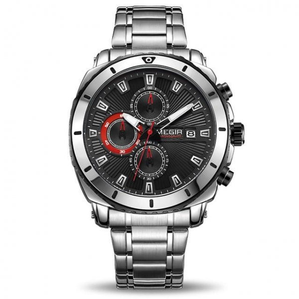 Quartz Men Watch Luxury Brand Stainless Steel Business Wrist Watches Black