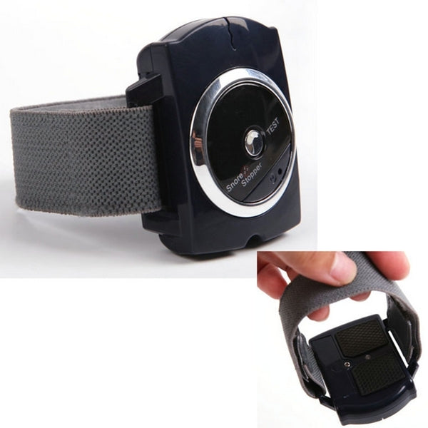 RENHE Bio Feedback Infrared Snore Stopper Anti Snoring Wristband Watch Black