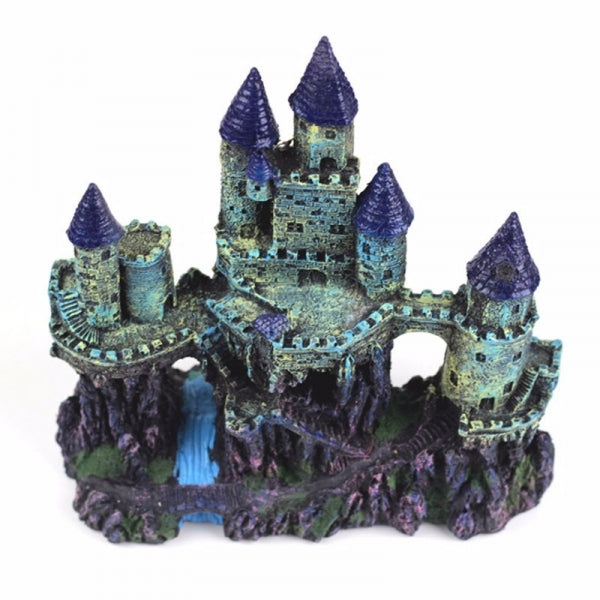 Resin Artificial Medieval Towers Castle Aquarium Decoration Fish Tank Cave Landscape