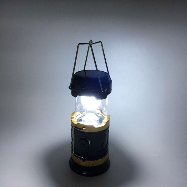 Solar Retractable Tent Lantern Portable LED Camping Lamp Medium Size