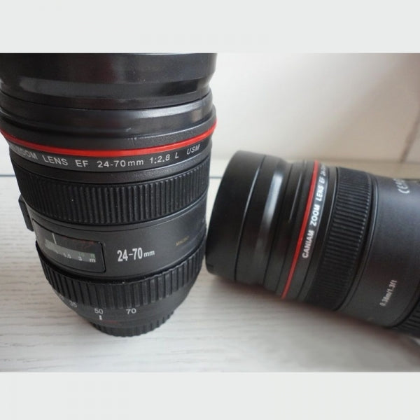 Retractable Zoom EF 24-70mm 1:2.8L USM Lens Coffee Cup for Canon