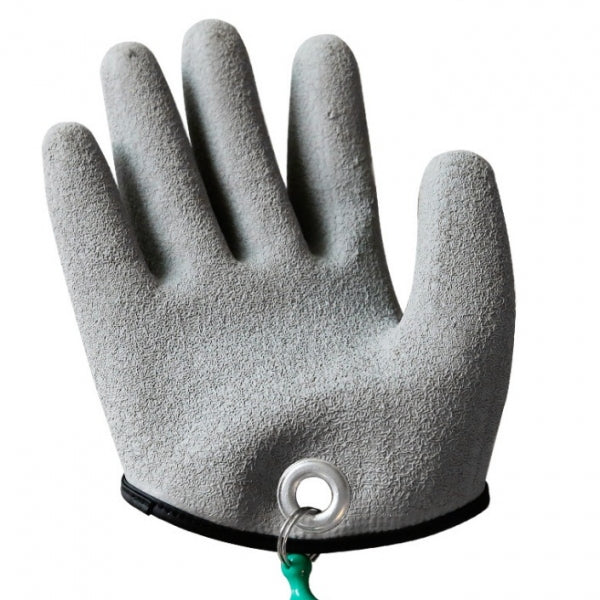 Right Hand Free Hands Fishing Gloves for Handing Fish Safety with Magnet Release - XL & Grey