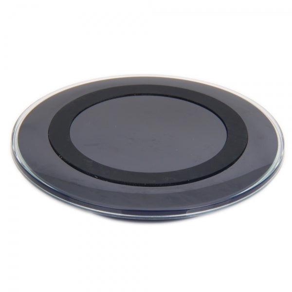 Round Qi Wireless Charging Pad for Samsung S6/ S6 Edge Black