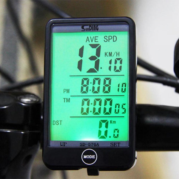 SD-576A Auto Light Speedometer Mode Touch Wired Bike Bicycle Computer Odometer with LCD Backlight