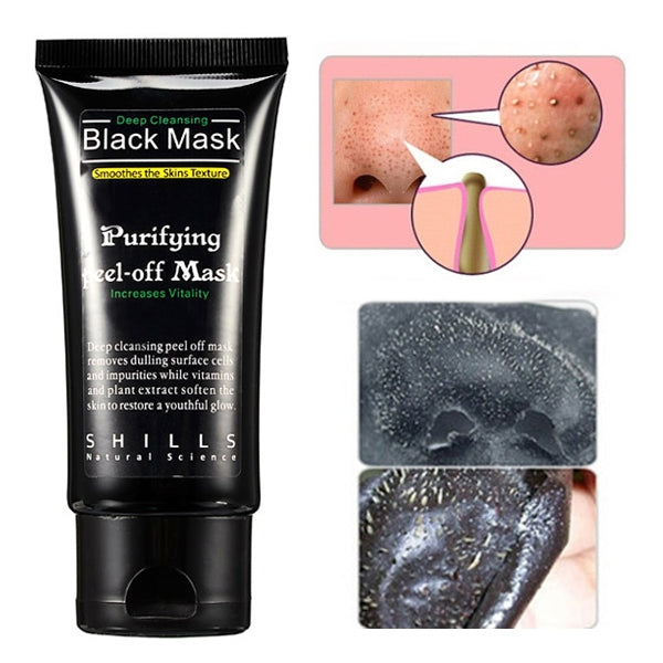 SHILLS Deep Cleansing Blackhead Peel-off Removal Black Mask Smoothes Skin Purifying 50mL