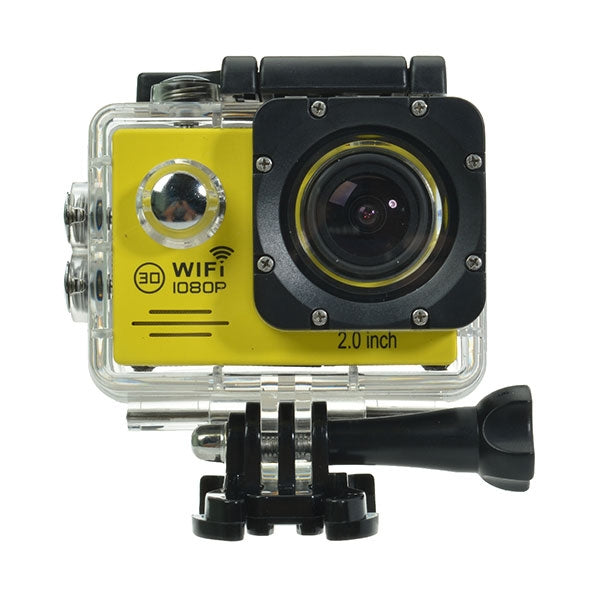SJ7000 HD 1080P WiFi Waterproof Car Sport Camera DV DVR Yellow US Plug