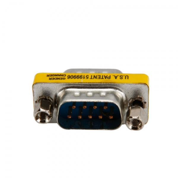 Serial RS232 9 Pin DB9 Male to Male Gender Changer Adapter