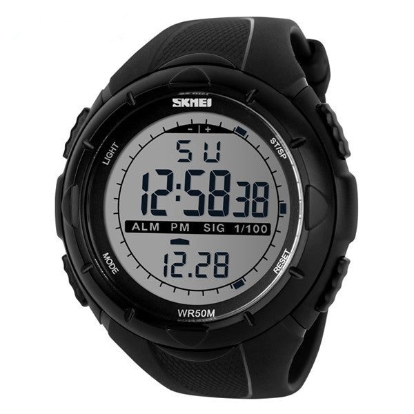 Skmei LED Digital Military Watch Fashion Sports Waterproof Men Wrist Watch Black