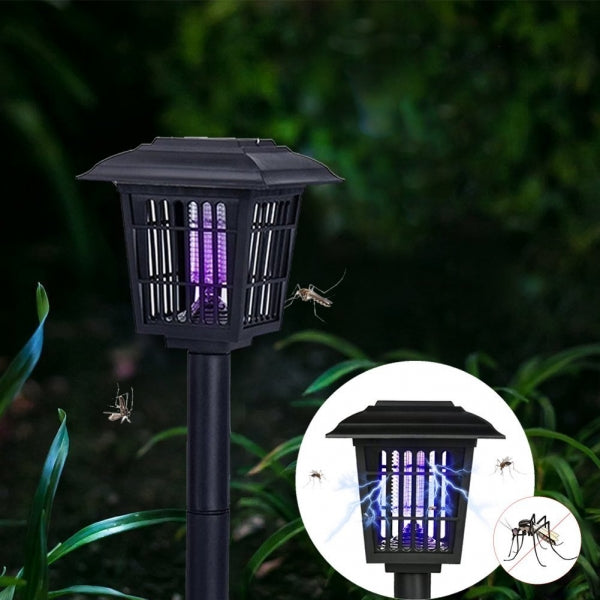 Solar Powered Mosquito Pest Killer Zapper Outdoor LED Lamp