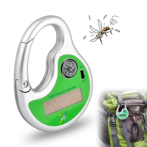 Oudoor Solar UV Mosquito Zapper with Compass - Green