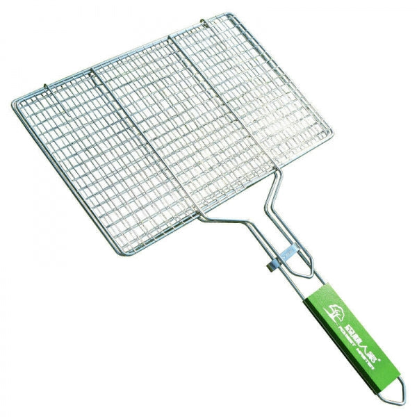 Stainless Steel BBQ Barbecue Basket Rack Fish Steak Meat Grill Net Non-stick US Only