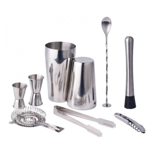 Stainless Steel Cocktail Shaker Mixer Drink Bartender Martini Tools Bar Set Kit 20 Ounce + 25 Ounce