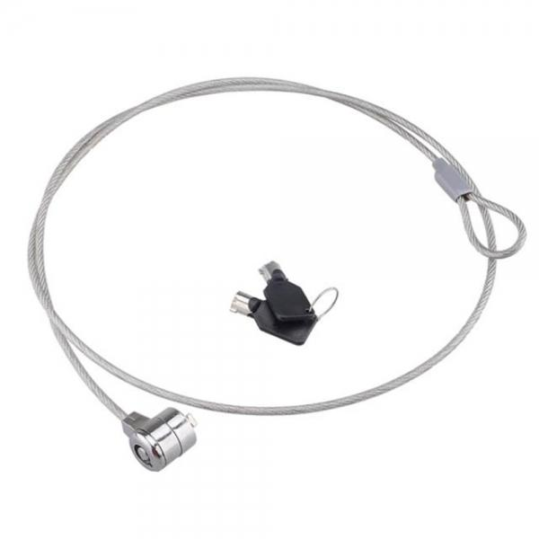 Steel Wire Security Cable Lock with 2-Key for Laptops Silver (114cm) - stringsmall