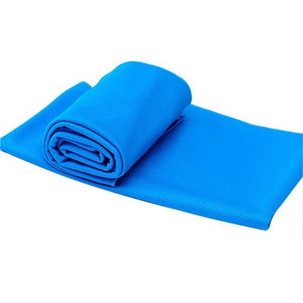 Summer Ice Towel UPF50+ UV Protection PVA Cooling Sports Towel 85*30cm Sky Blue
