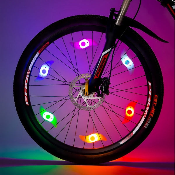 Super Bright LED Bike Spoke Light Wire Tire Tyre Wheel Light Bicycle Safety Alarm Light - Colorful Light