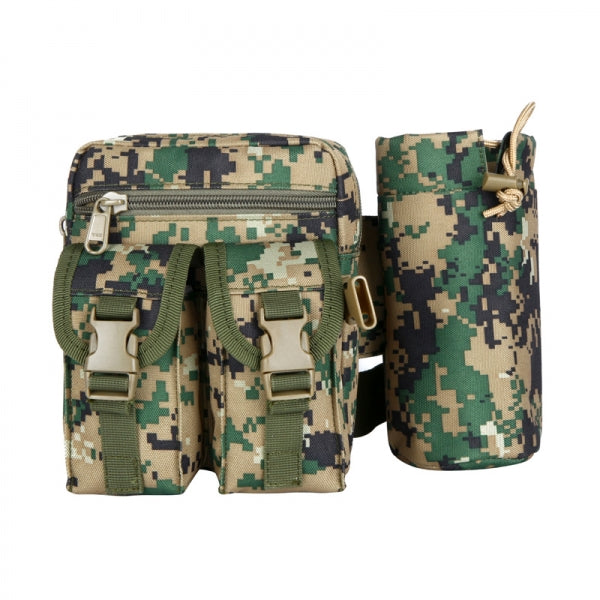 Tactical Military Waist Bag Pouch Haversack Messenger Bag with Bottle Pack for Camping Hiking Camouflage # 3