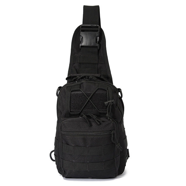 Tactical Utility Sports Hiking Single Shoulder Sling Chest Bag Travel Backpack Black