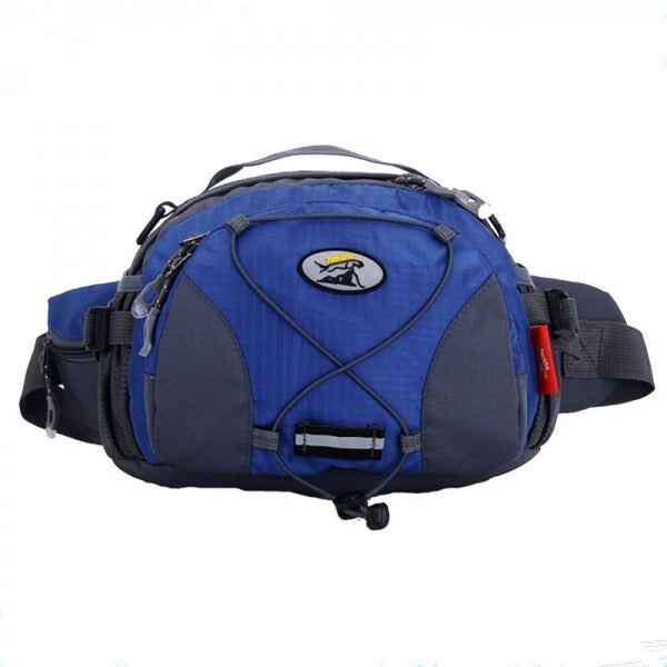 Tanluhu Men's Multifunction Outdoor Sports Crossbody Bag Polyester Travel Running Waist Pocket Blue