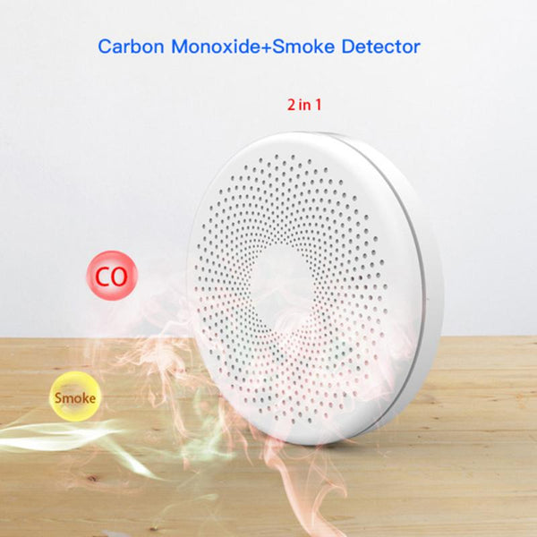 Tuya Smart WiFi Fire Detector Smoke Alarm Sensor Smoke & Carbon Monoxide Composite Home Remote Alarm SMS Notification