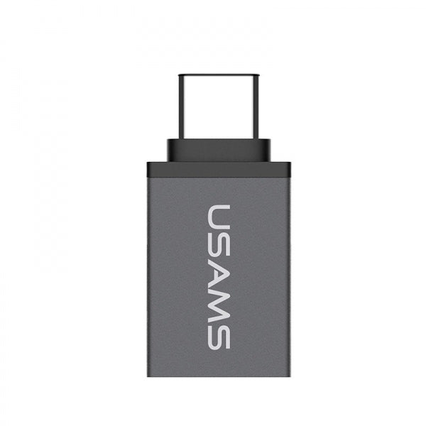 USAMS US-SJ021 Micro USB to Type-C Adapter Converter Dark Silver