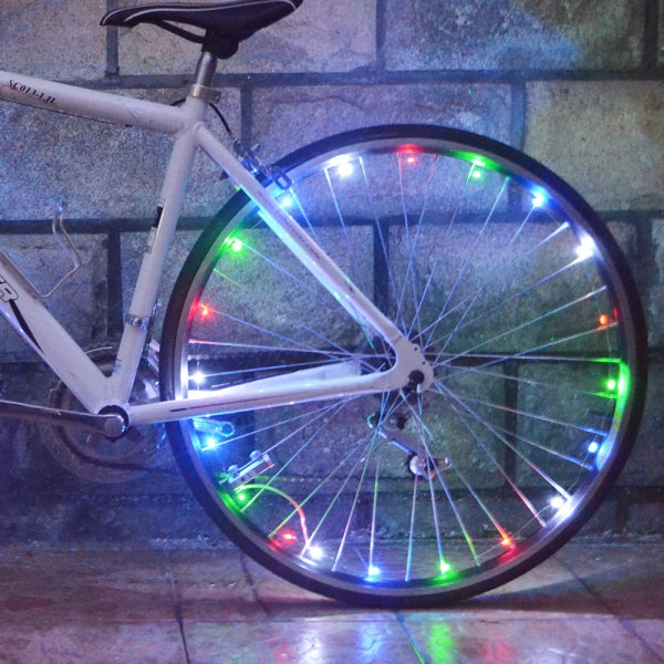 USB Rechargeable Waterproof Ultra Bright LED Colorful Bicycle Lights Night Riding Decorative Lights Wheel Light String