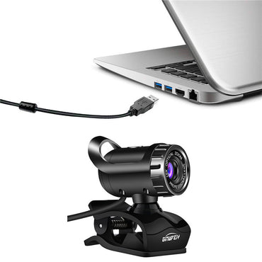 USB Webcam 480P HD Camera Web Camera MIC Clip-on for Computer Laptop 360 Degree Usb Camera