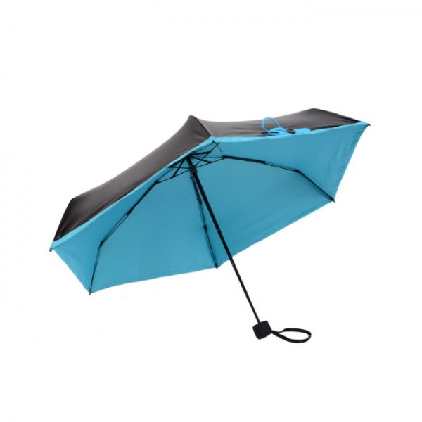 Ultralight Mini Sun Protection Folding Rain Portable Pocket Umbrella Blue