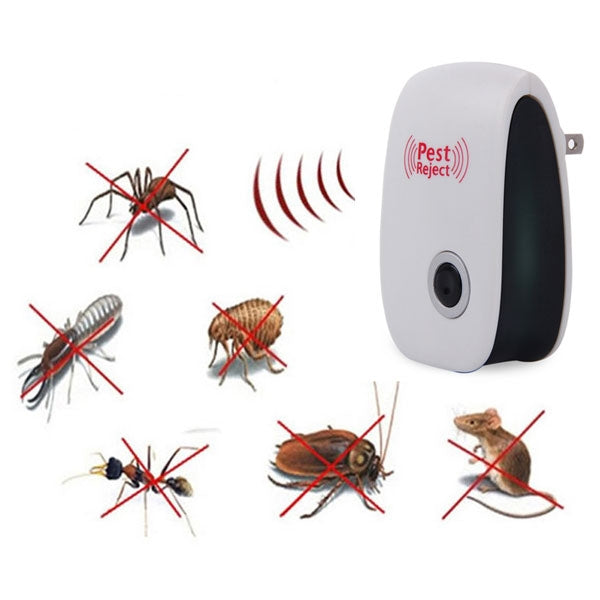 Electronic Ultrasonic Pest Repeller Mosquito Cockroach Reject - US Plug