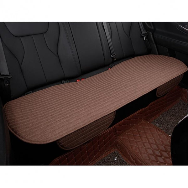 Universal Linen Ventilated Breathable Nonslip Car Backseat Rear Seat Cushion Cover Pad Mat - Coffee