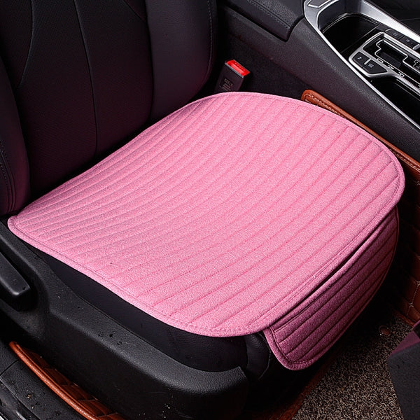 Universal Linen Ventilated Breathable Nonslip Car Front Seat Cushion Cover Pad Mat - Pink