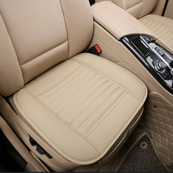 Universal PU Leather Car Seat Cushion Office Chairs Cushion - Beige