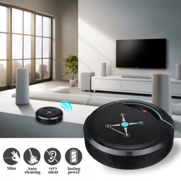 Vacuum Cleaning Robot Household Smart Sweeping Robot Floor Dirt Dust Hair Home Cleaning Machine Black