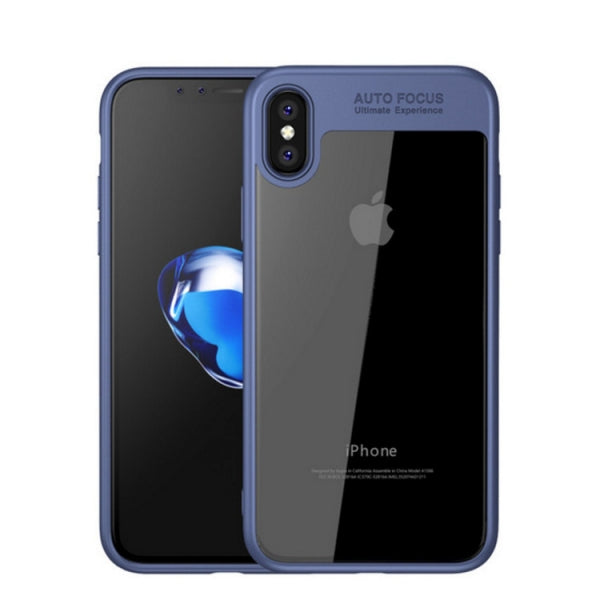 Viseaon Ultra Thin Silicone TPU+Acrylic Cover Case For iPhone X-Blue