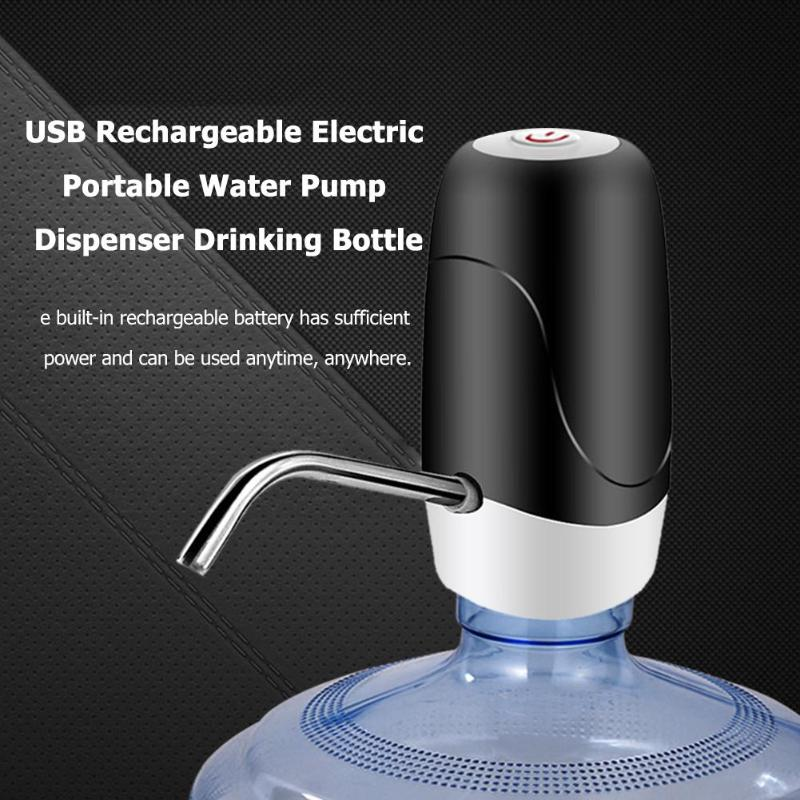 Water Bottle Pump, USB Charging Automatic Drinking Water Rechargeable Electric Portable Water Pump Dispenser Drinking Bottle