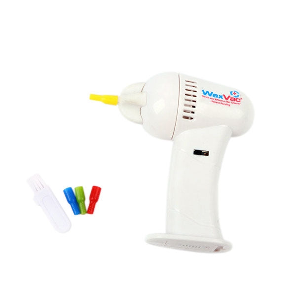 WaxVac Electric Cordless Ear Cleaner Earwax Remover White