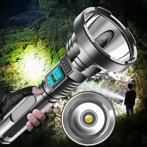 LED 4-Core 5000LM Powerful Flashlight Torch USB Rechargeable Tactical Hunting Flash Light LED FlashLamp Built-in 18650 Battery