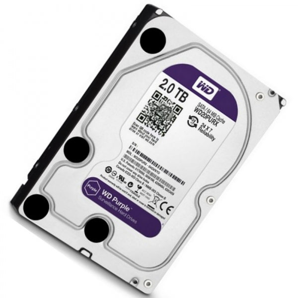 Western Digital / WD Purple Disk 2TB WD20PURX Hikvision DVR / NVR Surveillance Recorder Dedicated Hard Drive