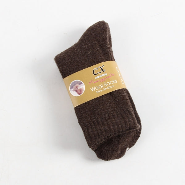 Winter Thickened Wool Socks Plush Warm Socks Men - A Pair Coffee
