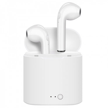 TWS Bluetooth Earbuds Sport Waterproof Stereo Wireless Headset with Charging Box - White