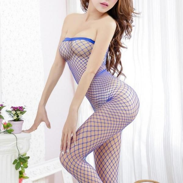Women's Sexy Underwear Wrapped Chest Jump Suit Siamese Netting Open Files Lingerie