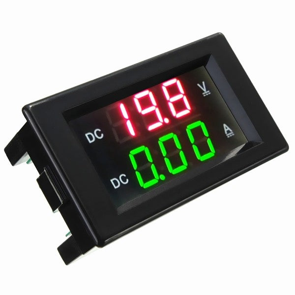 YB4835VA 100V/50A Double LED Display Digital Voltmeter Current Meter