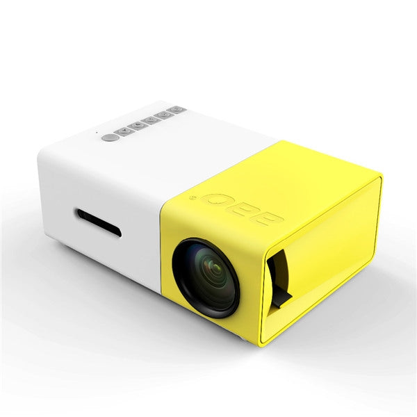 Mini Portable Projector YG-300 LCD 1080P LED w/ Built-in Battery US Plug