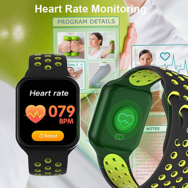 F8 Smart Watch IP67 Waterproof Heart Rate Blood Pressure Monitor Fitness Tracker Smartwatch for iOS Android