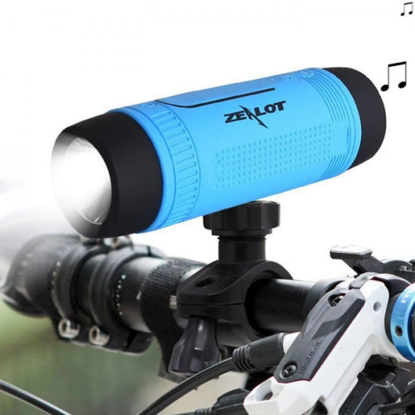 ZEALOT S1 Bluetooth Speaker Bicycle Portable Flashlight Wireless Spe Blue