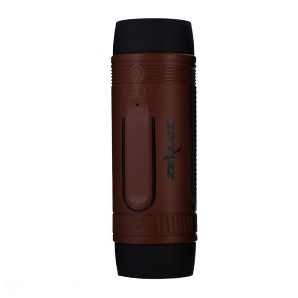 Zealot S1 Outdoor Speakers Bluetooth Bicycle Speaker 4000mAh Power Bank Brown