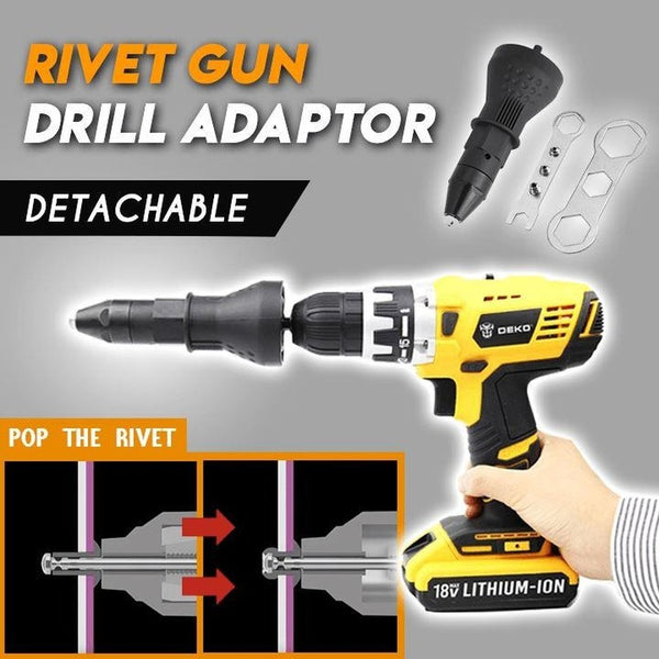 Electric Rivet Nut Gun  Riveting Tool For Cordless Drill Riveter Cordless Riveting Drill Adaptor Nut  Manual Riveter Rivnut Tool