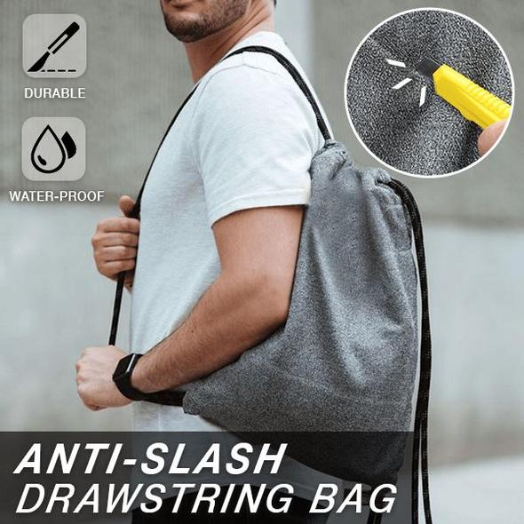 Cut Resistance Anti Theft Bag Cut Level 5 for  Outdoor ActivitiesCamping Travel Backpack Anti-Slash Laptop Drawstring Bag