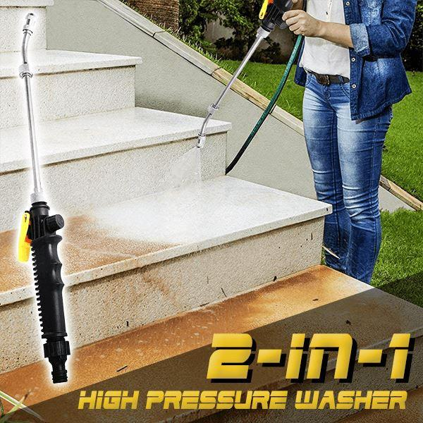 2-IN-1 High Pressure Power Car Water Washer Wand Nozzle Spray FlowControl Pressure Washer Water Gun Gardening Tool And Equipment