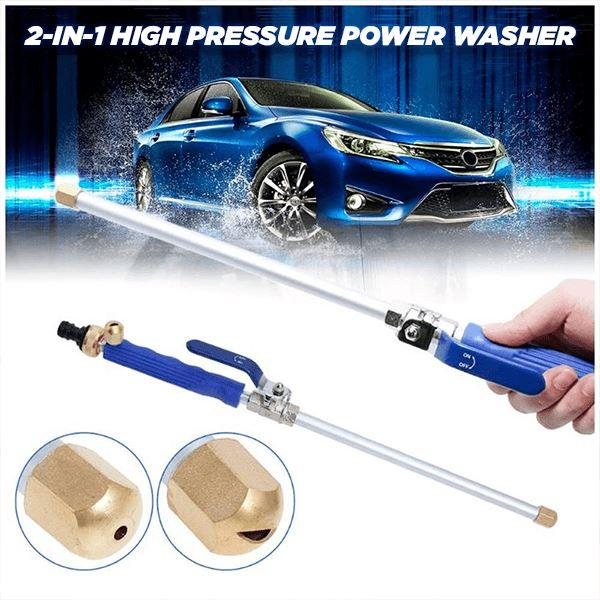 Car High Pressure Power Water Gun 2-in-1 Garden Washer Hose Wand Nozzle Sprayer Watering Spray Cleaning Tool Car Washer