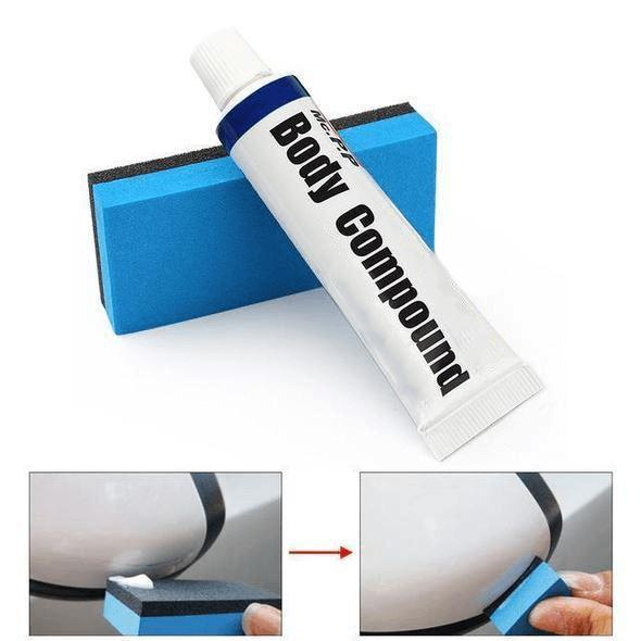 Car Body Compound Scratch Repair Wax Paint Car Scratch Abrasives Scar Remover Paste With Sponge Brush